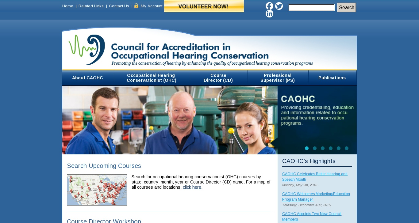 Caohc Council For Accreditation In Occupational Hearing