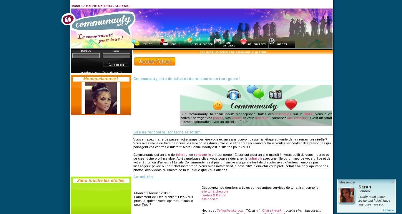Sites de rencontres - Tchatche gratuit accès visiteurs