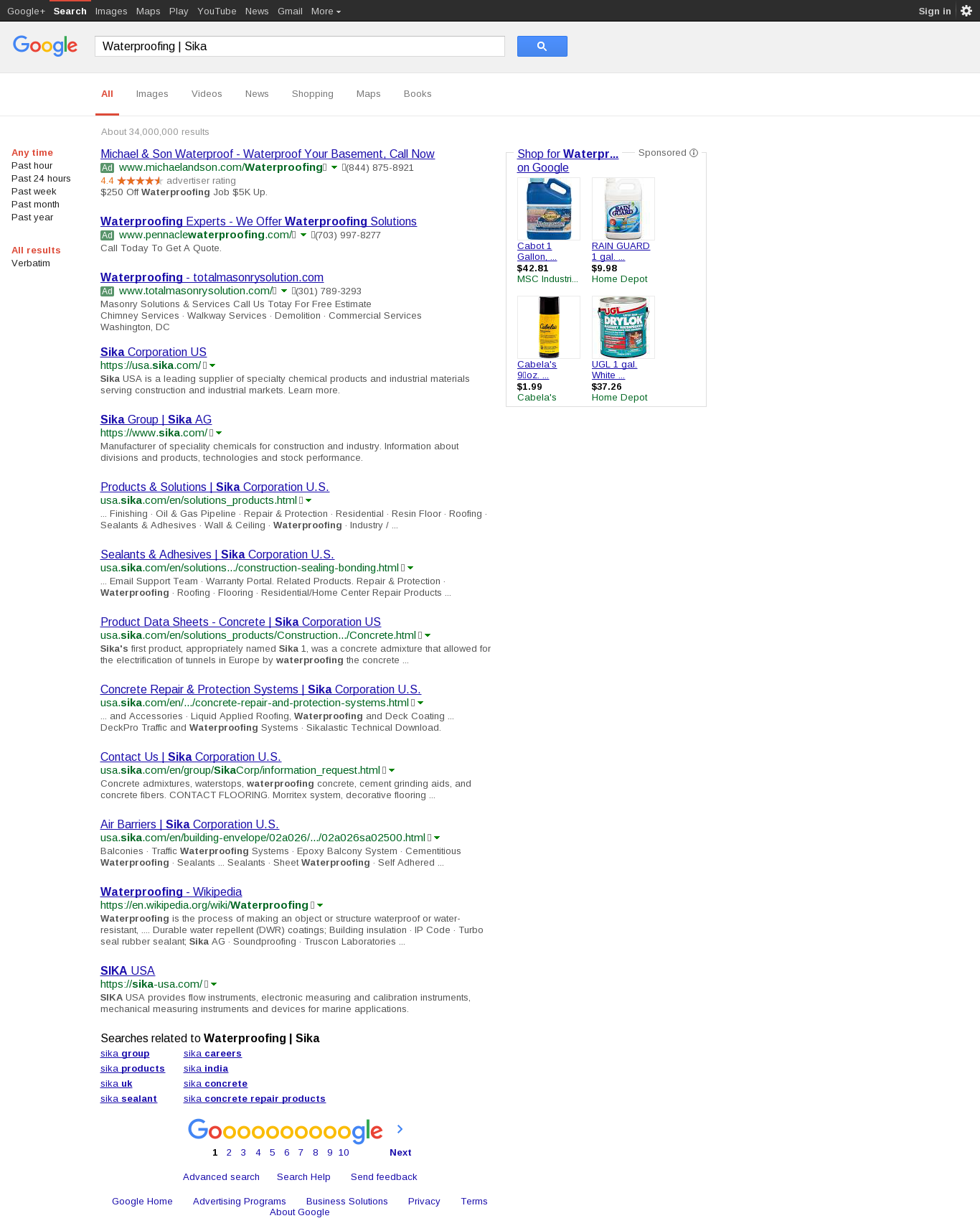 chemstop com - Waterproofing   Sika Corporation U S