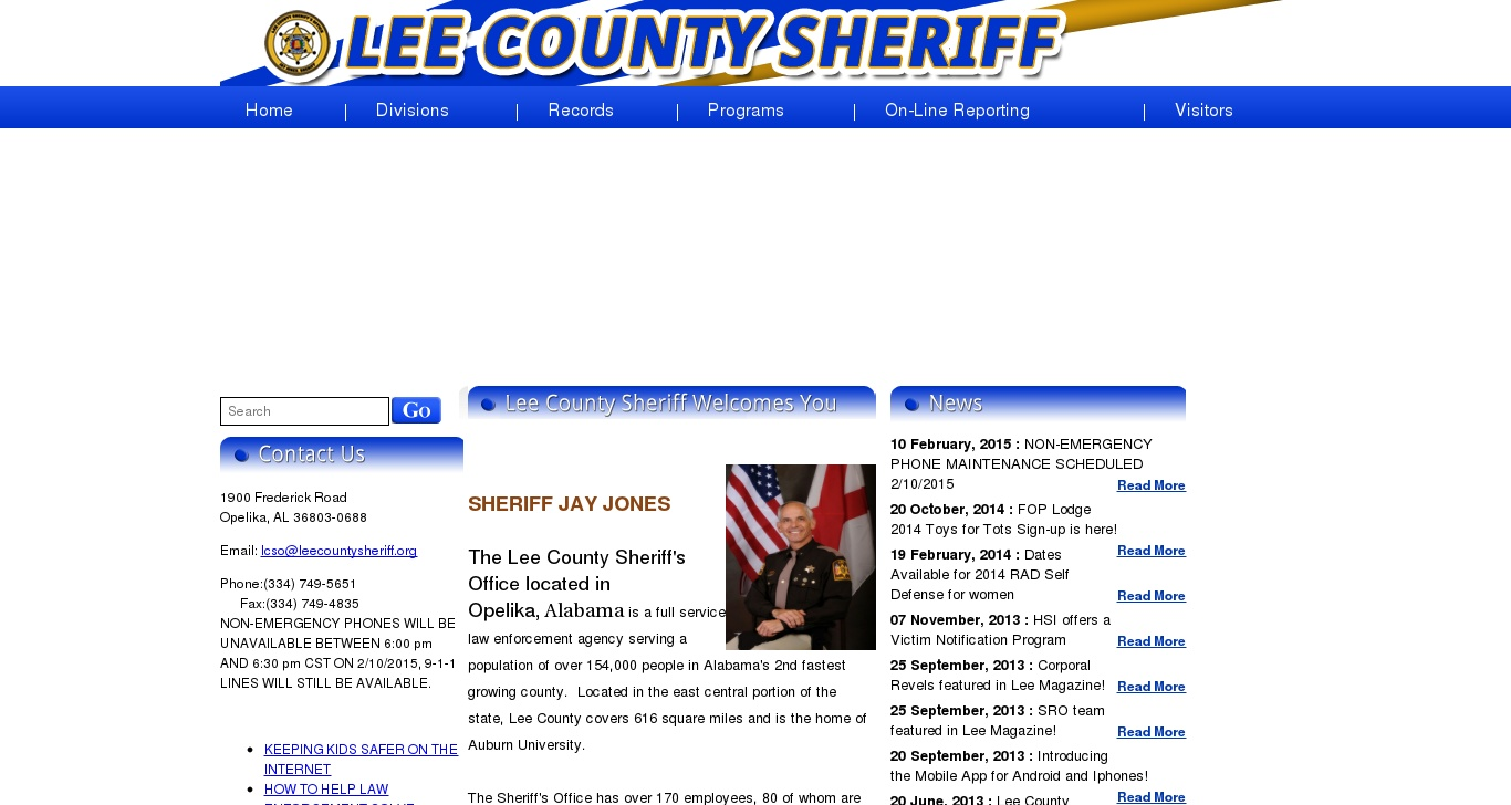 leecountysheriff org - :: Lee County Sheriff :: - DomainData