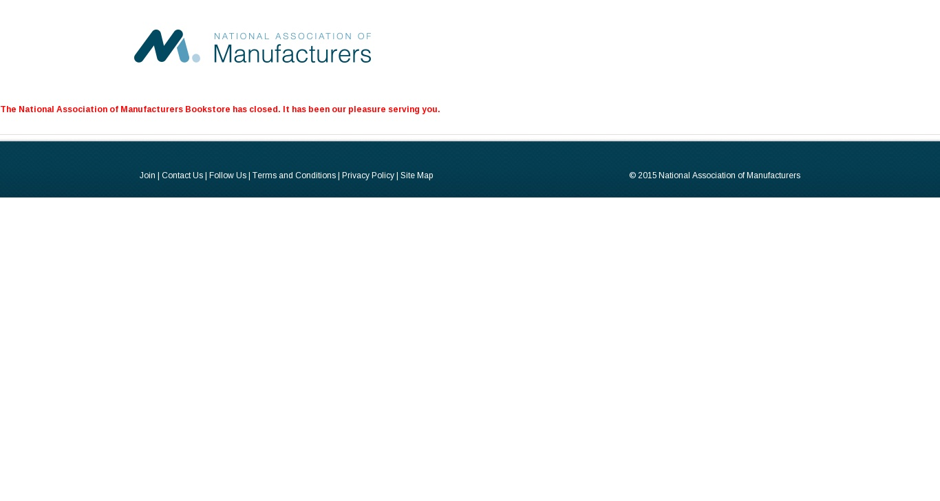 nambooks com - National Association of Manufacturers: Closed