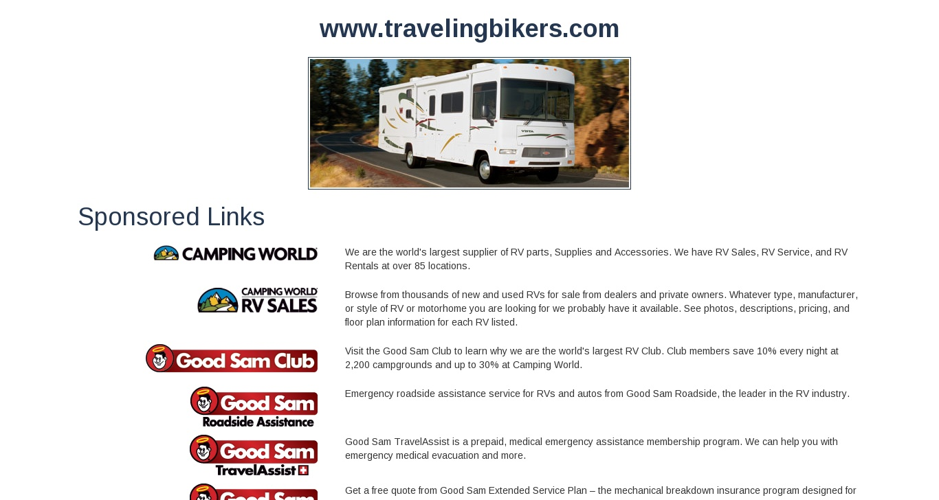 travelingbikers com - The world's largest provider of