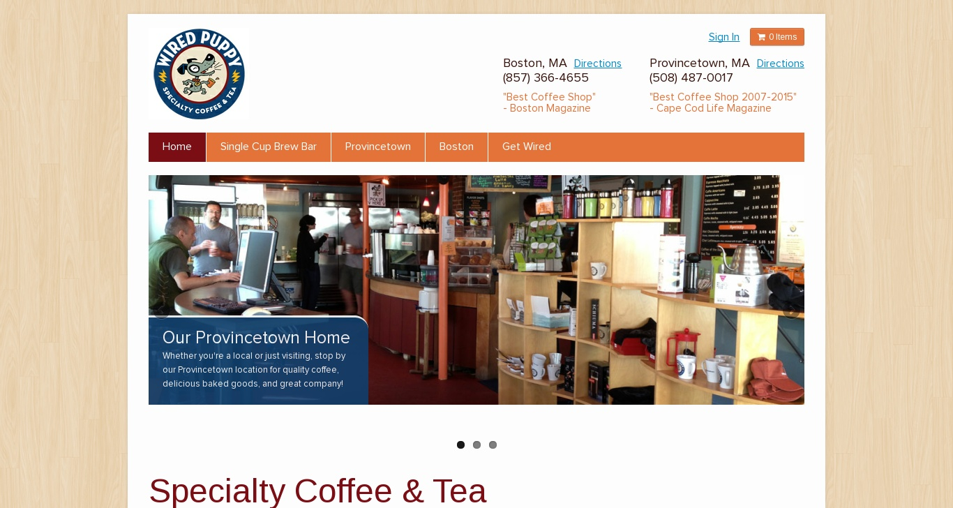 wiredpuppy.com - Wired Puppy | Specialty Coffee & Tea - DomainsData